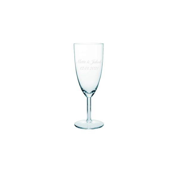 champagneglas til bryllup